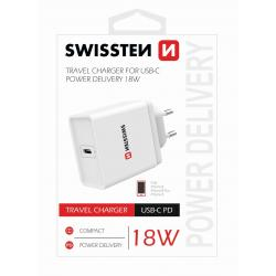SWISSTEN SÍŤOVÝ ADAPTÉR POWER DELIVERY USB-C 18W