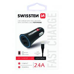 SWISSTEN CL ADAPTÉR 2,4A POWER 2x USB + KABEL LIGHTNING